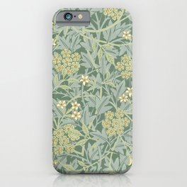 William Morris vintage floral pattern iPhone Case