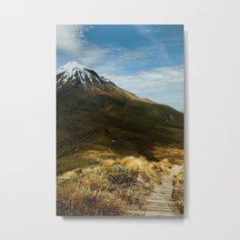 Heading towards Mount Taranaki Metal Print
