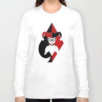 harley quinn Long Sleeve T-shirts featuring Harley Quinn by EmeraldSora
