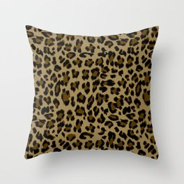 Leopard Print Pattern Throw Pillow