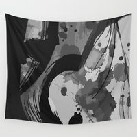 gemma Wall Tapestries featuring Ink III by Magdalena Hristova