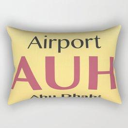 AUH Abu Dhabi airport code Rectangular Pillow