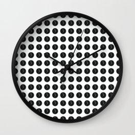 (Overworked) Guardian Angel Polka Dots Wall Clock