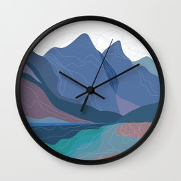 Moraine Lake Wall Clock