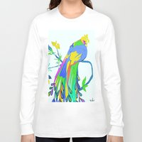 peacock Long Sleeve T-shirts featuring Peacock  by Saundra Myles