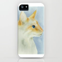 red point siamese cat 1 iPhone Case