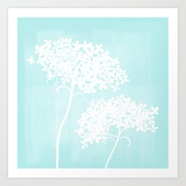 Queen Anne's Lace Blue Art Print