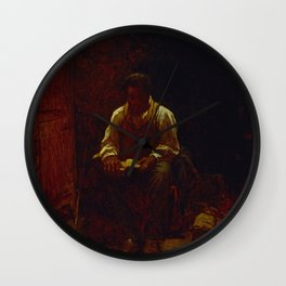The Lord Is My Shepherd - Eastman Johnson Wall Clock