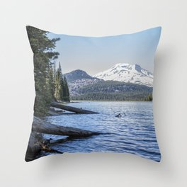 South Sister from Sparks Lake Throw Pillow