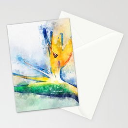Bird Of Paradise Watercolor Art Stationery Cards