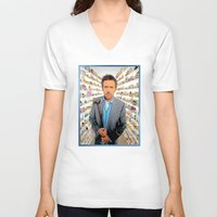house md V-neck T-shirts featuring House MD - Colored Pencil Sketch Style by ElvisTR