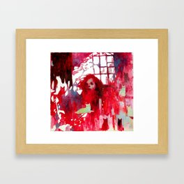 Rosy Cats and Memories Framed Art Print