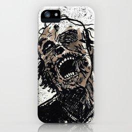 Gray Zombie iPhone Case