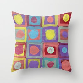 Circles and Squares Throw Pillow