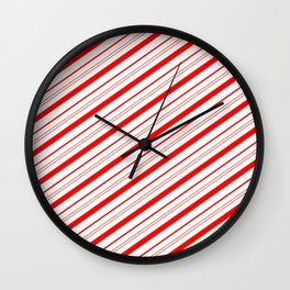 Candy Cane Stripes Wall Clock