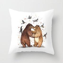 Bear Dance Throw Pillow