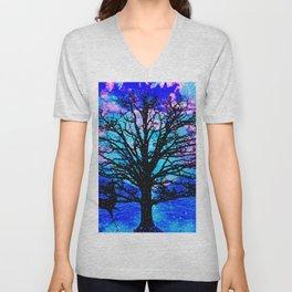 TREES AND STARS Unisex V-Neck