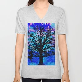 TREES AND STARS Unisex V-Neck