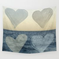 hearts Wall Tapestries featuring Hearts by Pure Nature Photos