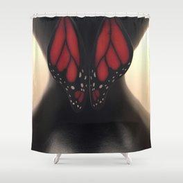 Butterfly Waist Shower Curtain