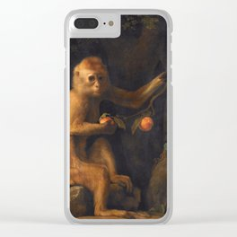 George Stubbs - A Monkey Clear iPhone Case