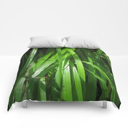 Grass Leaves Comforters