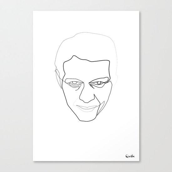 One line steve Mc Queen white Canvas Print