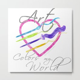 Art Colors My World Metal Print
