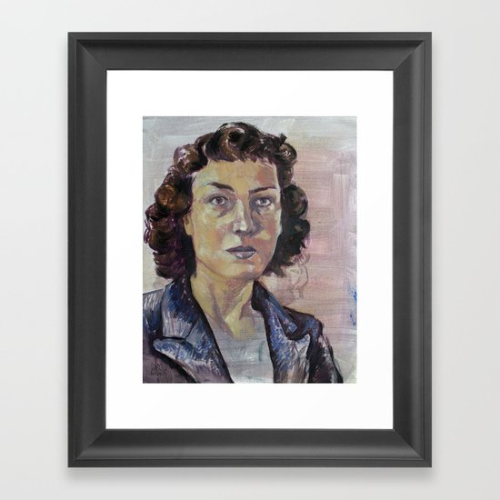 Philippa Foot Framed Art Print
