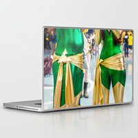 xmen Laptop & iPad Skins featuring Crossplay is Fun! Jean Grey Phoenix times two by Hoboxia