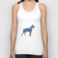 boxer Tank Tops featuring Boxer by Carma Zoe