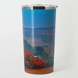 A hunting perch, a village and some vivid scenery Travel Mug
