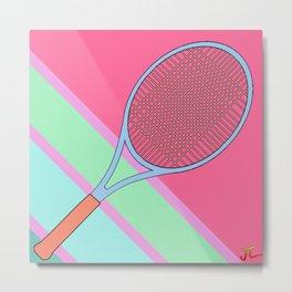 Tenis Racket Metal Print