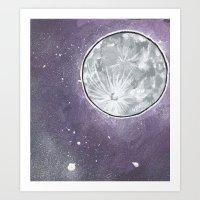 lunar Art Prints featuring Lunar by Cody Fisher