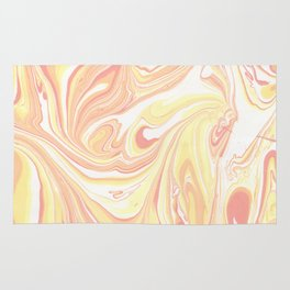 Golden Hour Marble Retro Print Rug