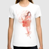 flora T-shirts featuring Flora by Anne Cresci