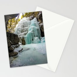 Angel Falls in Maligne Canyon, Canada Stationery Cards