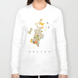 Boston map Long Sleeve T-shirt