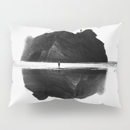 Black and White Isolation Island Pillow Sham