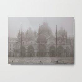 San Marcos Basilica at Piazza San Marcos, Venice, Italy Metal Print