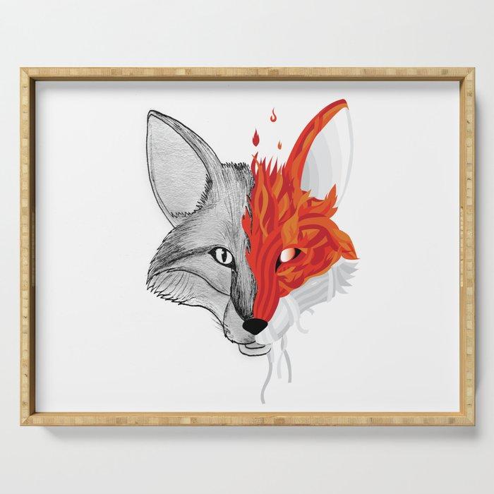 Fire Fox Serving Tray