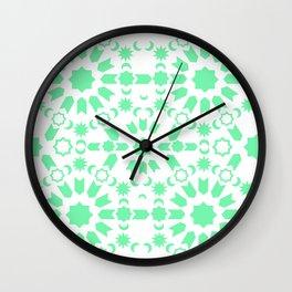 Mint Arabesque Wall Clock