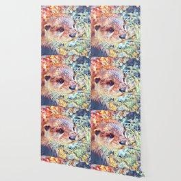 Aquarell Otter Wallpaper