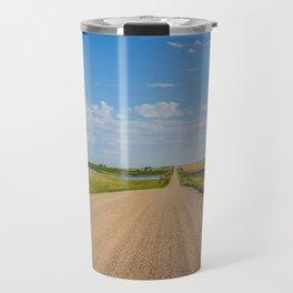 Walking on a Country Road, North Dakota 1 Travel Mug