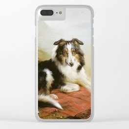 Edwin Douglas - A Collie, The Guardian Of The Flock Clear iPhone Case