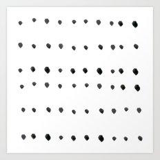 Modern boho dot Art Print