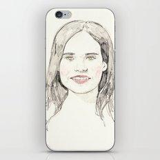 Ellen Page Portrait iPhone & iPod Skin
