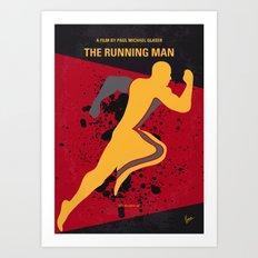 No425 My Running man minimal movie poster Art Print