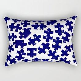 Random Jigsaw Pieces Rectangular Pillow