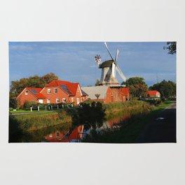 Dutch Windmill in Holland Rug